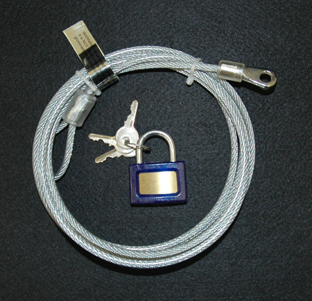 CAR COVER - CABLE & LOCK
