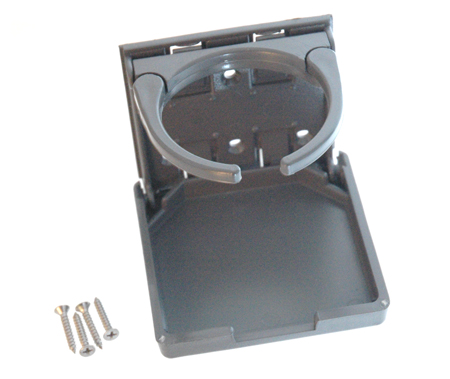 THINK FOLD OUT DRINK HOLDER WITH MOUNTING HARDWARE