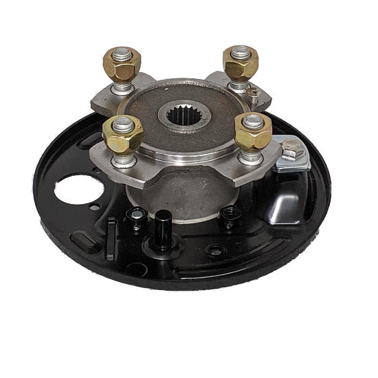 GEM CAR HUB ASSEMBLY WITH BACKING PLATE