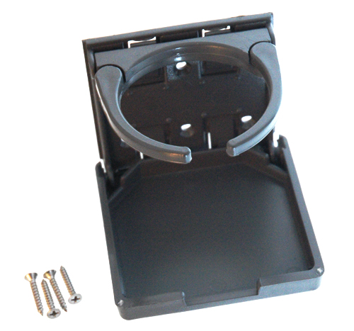 GEM FOLD OUT DRINK HOLDER WITH MOUNTING HARDWARE